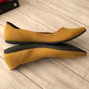 Rothy's Shoes - Rothy's Mustard Yellow Point Flats Size 10